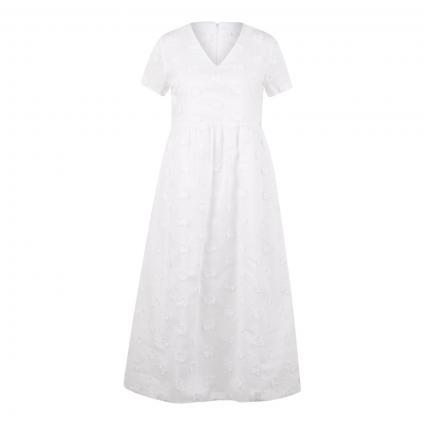 Kleid mit Stickerei weiss (017 weiß) | 42