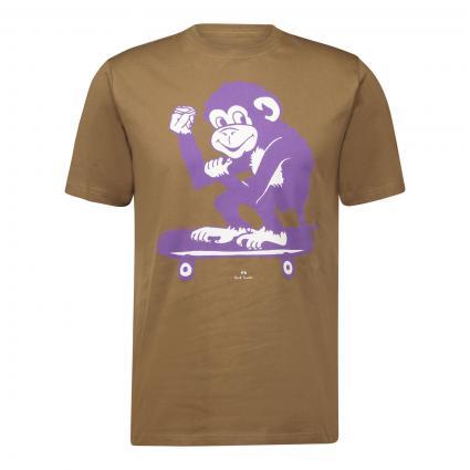 T-Shirt mit Print beige (36 beige monkey) | S