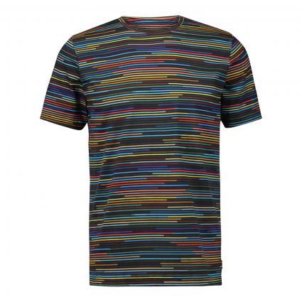 T-Shirt mit Streifenmuster schwarz (79 black stripe)   XL