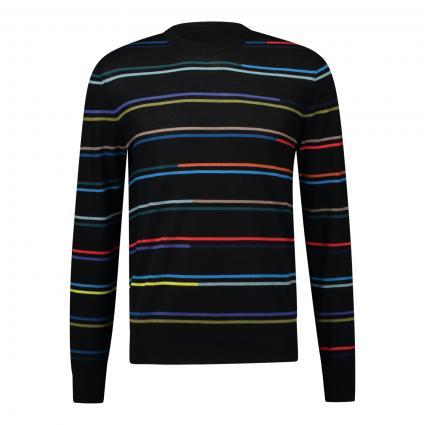 Pullover mit Streifenmuster schwarz (79A black stripe) | XL