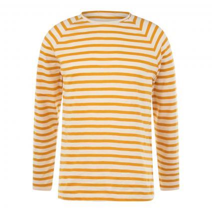 Langarmshirt 'Otto' mit Streifenmuster gelb (yellow) | L