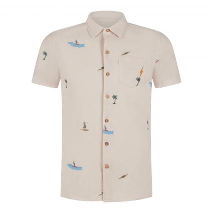 Poloshirt 'Shore' mit Musterung ecru (W10 fog) | M