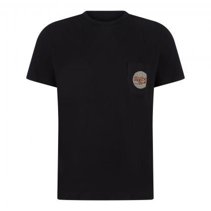 T-Shirt 'Wild Surf Tee' mit Brusttasche schwarz (K01 moonless night) | M
