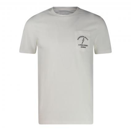 T-Shirt 'Pure Source Hawaii' mit Print ecru (W03 egret) | S