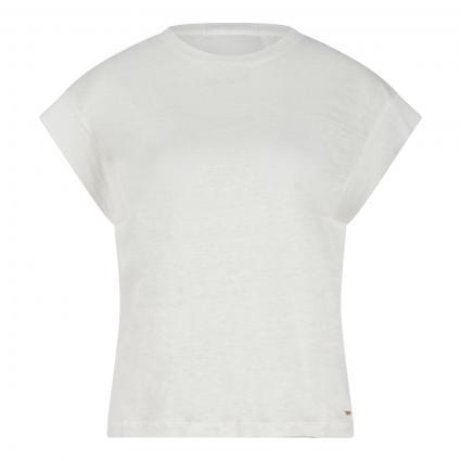 T-Shirt 'Cleo' aus Leinen ecru (803 OFF WHITE) | M