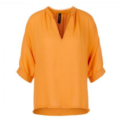 Bluse mit geschlitztem Rundhalsausschnitt bordeaux (443 masala) | 40
