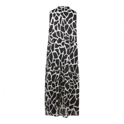 Kleid mit All-Over Druck beige (115 cashew) | 36
