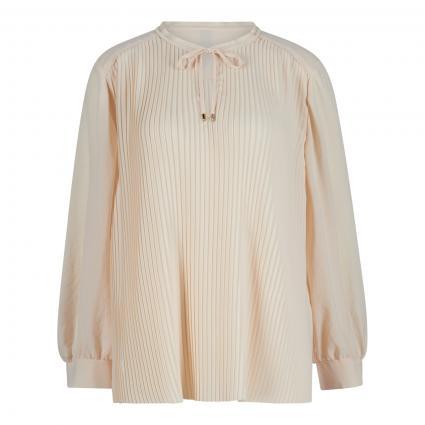 Bluse mit Plisseefalten ecru (131 creme) | 40