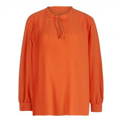 Bluse mit Plisseefalten orange (484 calendula) | 40