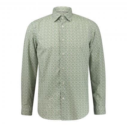 Slim-Fit Hemd mit All-Over Muster grün (86 Green)   44
