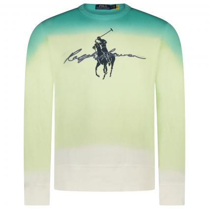 Sweatshirt mit frontalem Label-Print  weiss (001 WHITE DIP) | XS