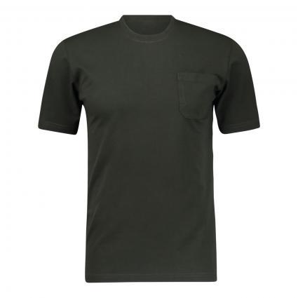 T-Shirt mit Brusttasche oliv (01367 Oliv) | L