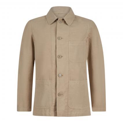 Jacke im Overshirt-Stil beige (85047 beige)   M