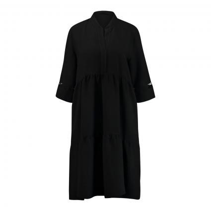 Kleid mit Spitzen-Details schwarz (02 schwarz) | 38