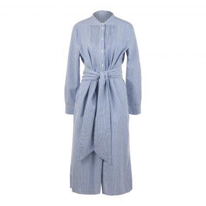 Blusenkleid mit Bindegürtel und Streifenmuster blau (26069 Stripe lt blue)   40