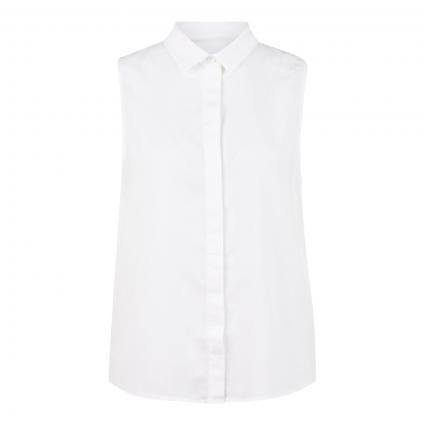 Ärmellose Bluse mit verdeckter Leiste weiss (27 WHITE) | M