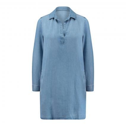 Kleid mit Krempelarm blau (4042 MEDIUM OMBRE WA) | M