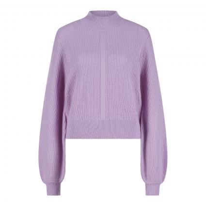 Pullover mit Turtle-Neck lila (PURPLE PUR01) | M