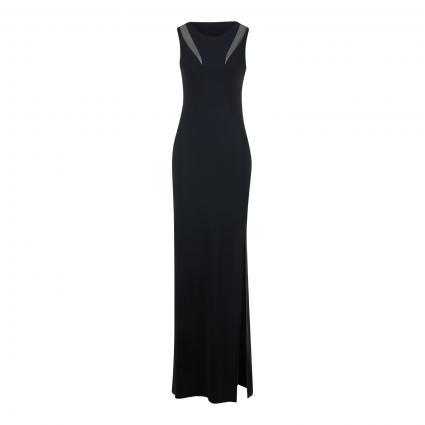 Maxi- Kleid 'ABITO/DRESS' mit Beinschlitz  schwarz (K103 NERO) | S