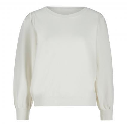 Pullover 'Zarock' mit Puffärmeln weiss (OFF WHITE OW01) | L