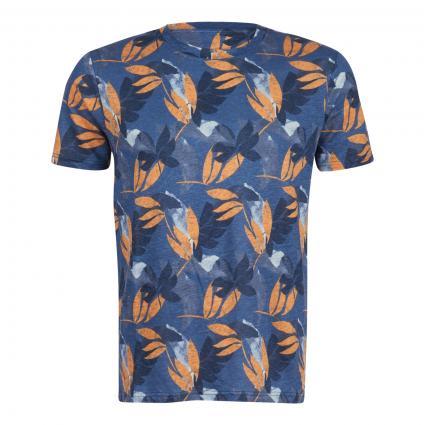 T-Shirt mit All-Over Muster  blau (1188 dark denim)   S