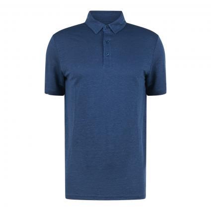 Poloshirt 'Rowen' aus Leinen blau (1188 dark denim) | L