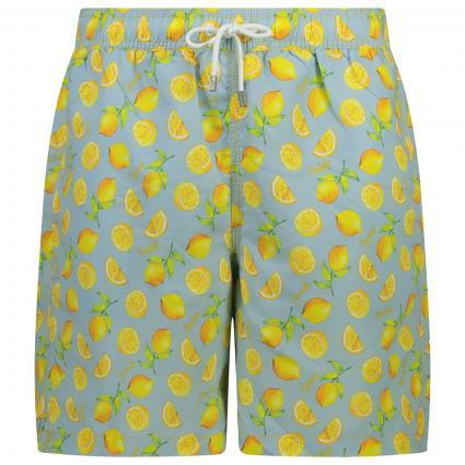Badehose mit Zitronenprint, Gummibund und Zugband gelb (0AAMULTI) | S