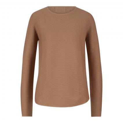Pullover mit Rundhalsausschnitt camel (haselnuss)   XXL