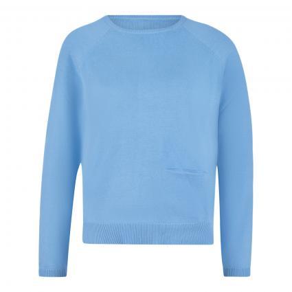 Pullover mit Einschubtasche blau (sky)   M
