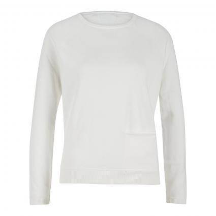 Pullover mit Einschubtasche ecru (ecru) | S