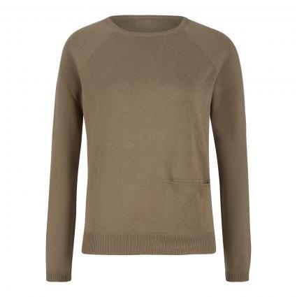 Pullover mit Einschubtasche oliv (oliv) | S