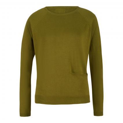 Pullover mit Einschubtasche grün (erbse)   L