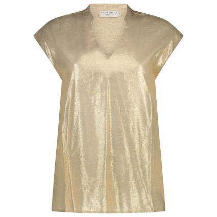 Glänzende Bluse beige (GOLDEN BEIGE) | S