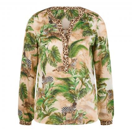 Bluse mit Jungle-Motiv beige (790 animal jungle)   42