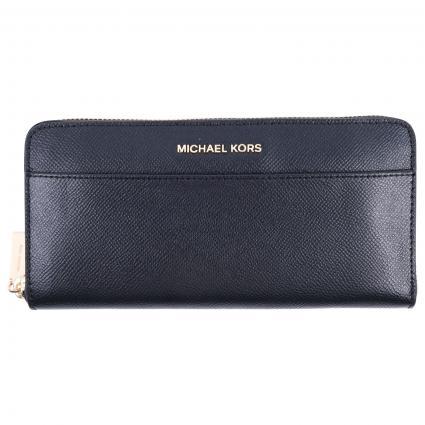 Portemonnaie mit Gold-Details  schwarz (001 BLACK) | 0