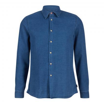 Hemd Regular-Fit in Jeans Optik  blau (MD denim) | XL