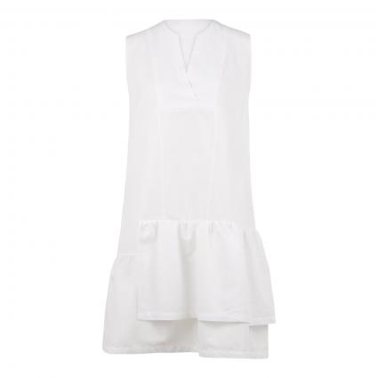 Kleid 'Francine' mit V-Ausschnitt  weiss (100 white) | 42