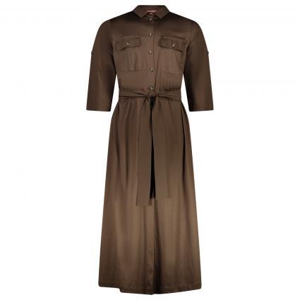 Hemdblusenkleid mit Gürtel braun (022 T/MORO) | XL