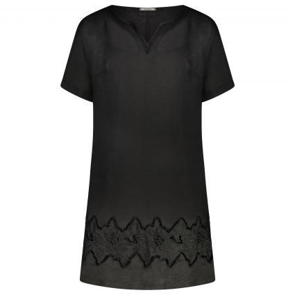 Besticktes Leinenkleid schwarz (33 schwarz) | 50