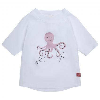 Bade T-Shirt mit Print weiss (White) | 98