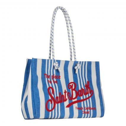Strandtasche 'Victoria Sponge' aus Frottee blau (EBST17 EMB STRIPE 17)   0