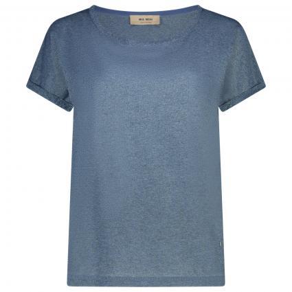 Oversize-Shirt 'Kay' mit Glitzerdetails blau (487 VINTAGE INDIGO)   L