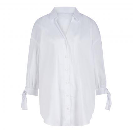 Lange Bluse mit 3/4 Arm weiss (10100 weiß) | 46