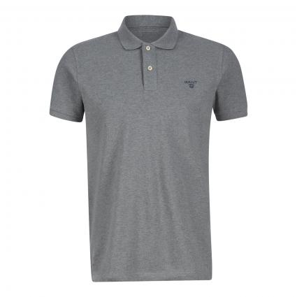 Poloshirt mit Label-Stickerei grau (93 Grey) | S