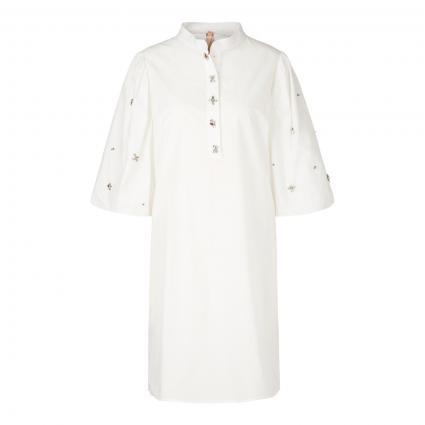 Kleid mit Schmucksteinen ecru (110 off-white) | 42