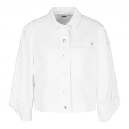 Jeansjacke in Cropped-Länge weiss (100 white)   34