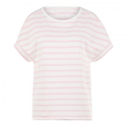 T-Shirt mit Streifenmuster rose (401 rose stripe) | M