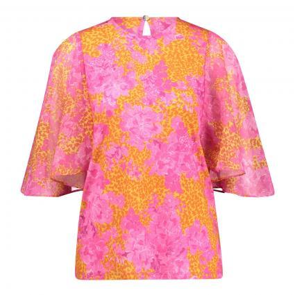 Blusenshirt 'Lilanya' mit floraler Musterung orange (LT-ORANGE) | 38