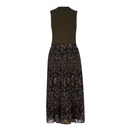 Kleid 'Lemmie' mit plissiertem Rock  grün (KHAKI)   36