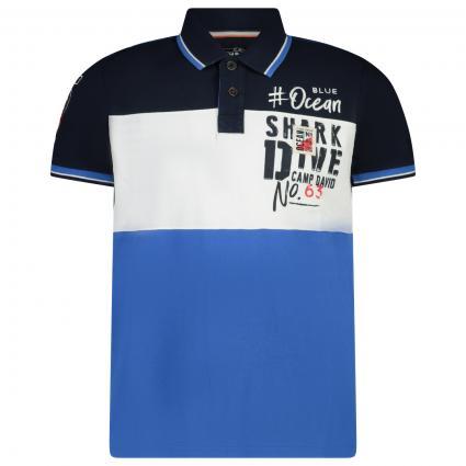Sportliches Poloshirt mit Colour-Blocking blau (BLU 0765) | S